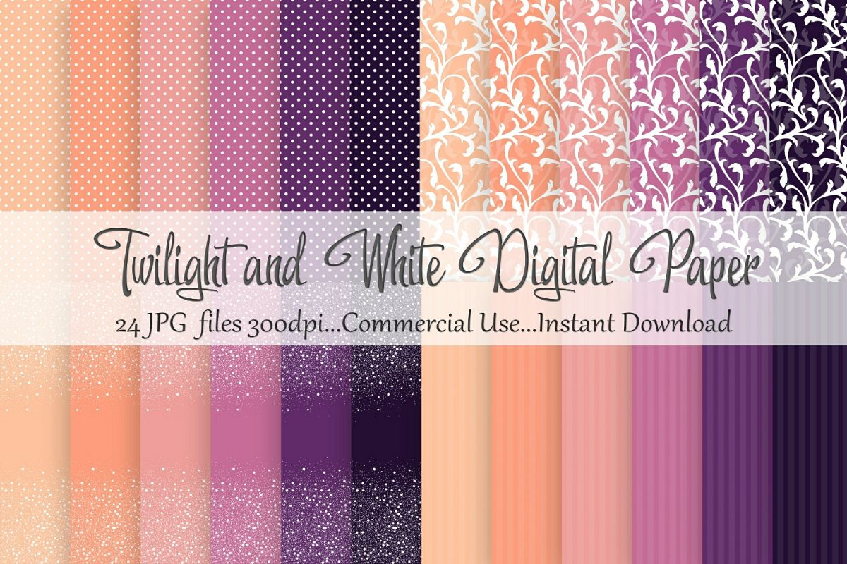 Twilight White Digital Paper example image 1
