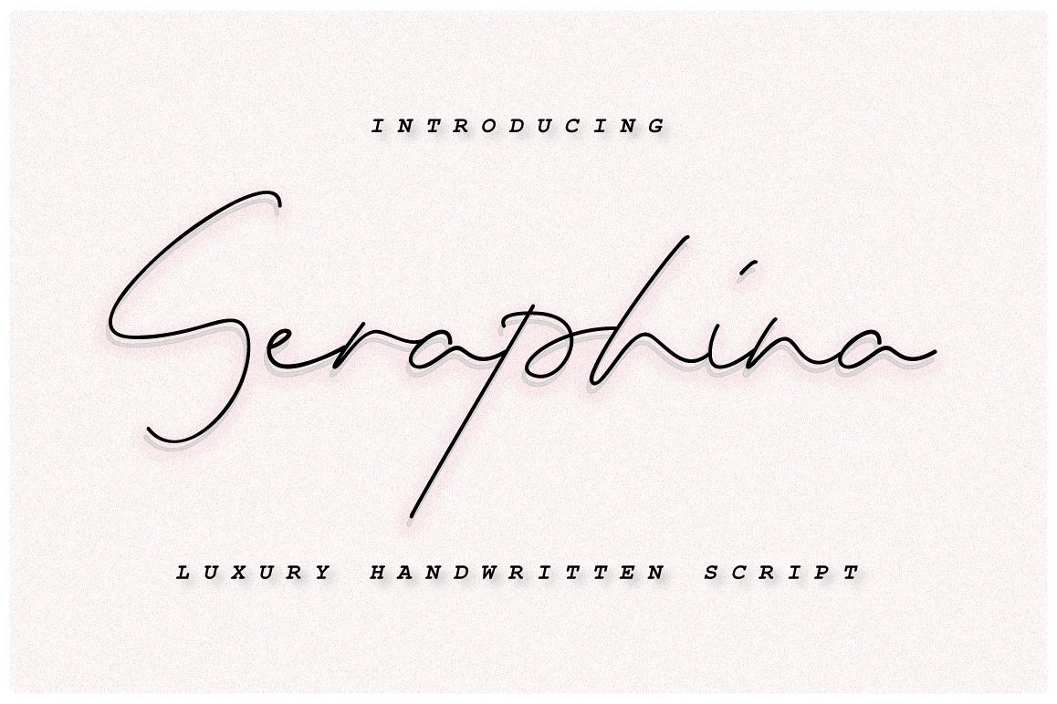 Seraphina Script Font - Bold&Regular example image 1