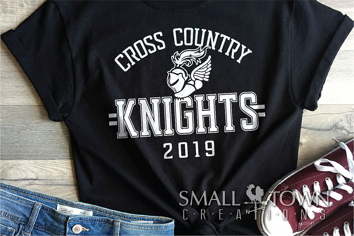 Knight Cross Country, Knights mascot, PRINT, CUT, DESIGN example image 1
