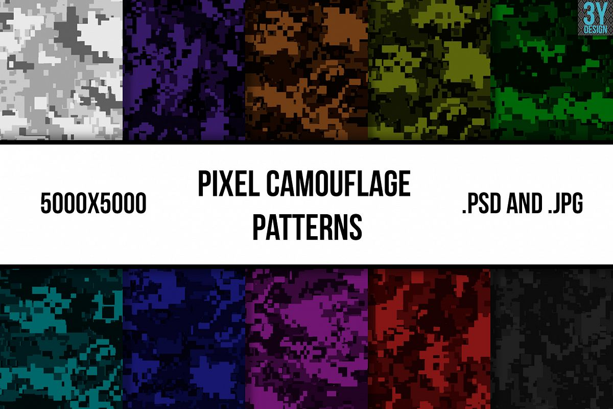 Pixel Camouflage Patterns example image 1