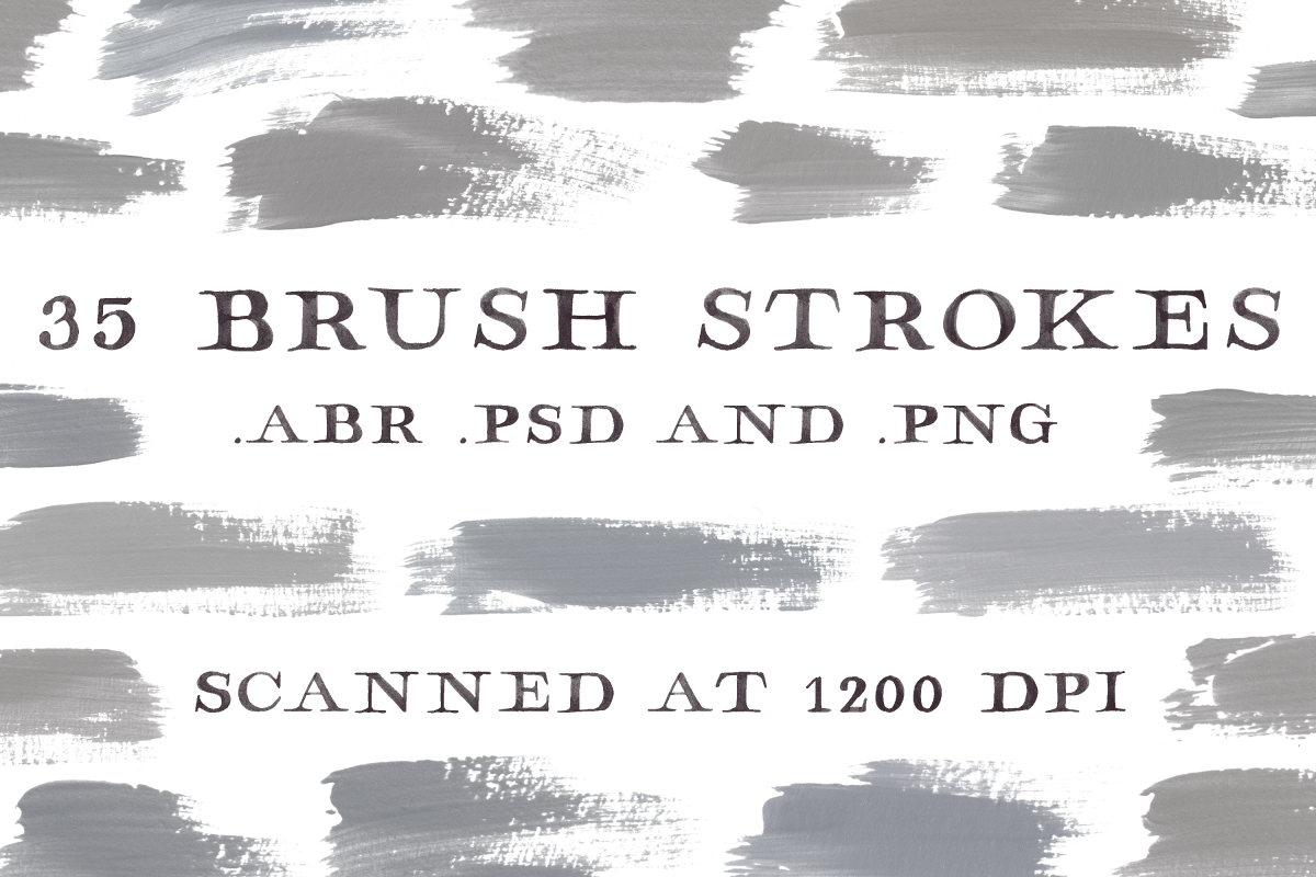 Acrylic Brush Strokes Clip Art - Photoshop Brushes example image 1