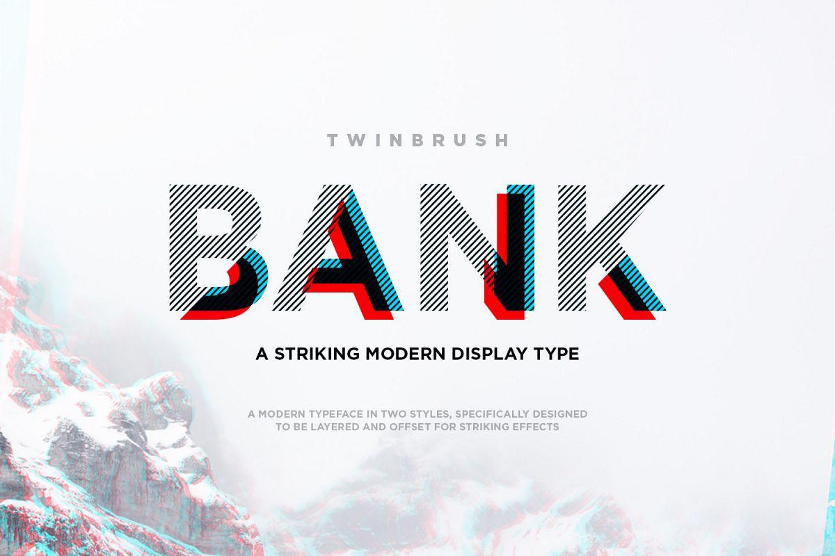 Bank Display Font example image 1