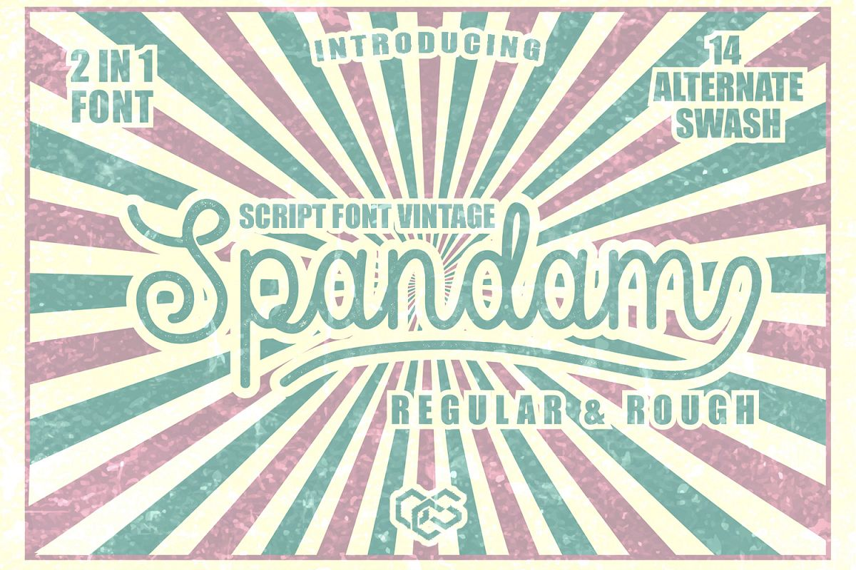 Spandam Vintage Font example image 1