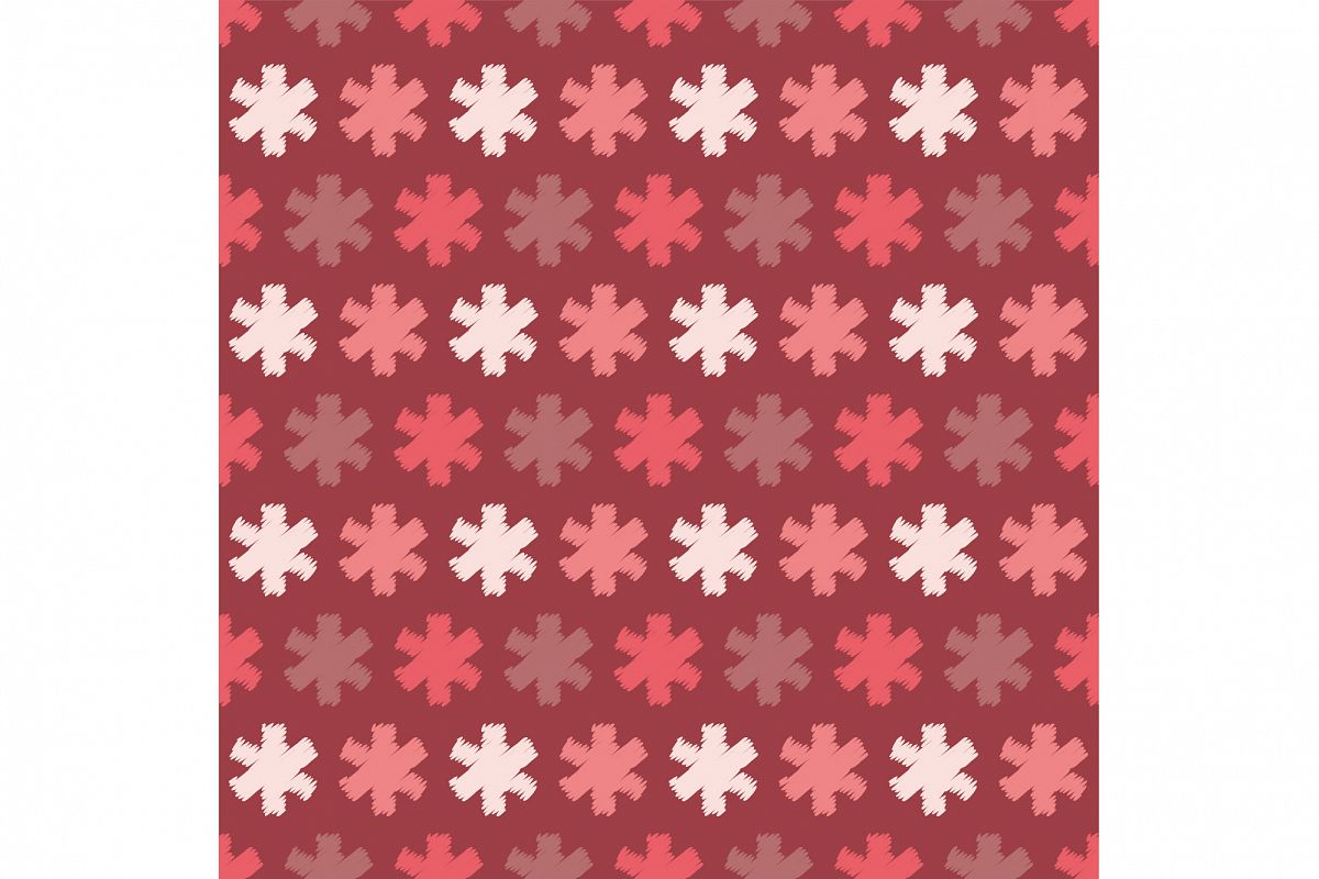 Seamless background with snowflakes. example image 1