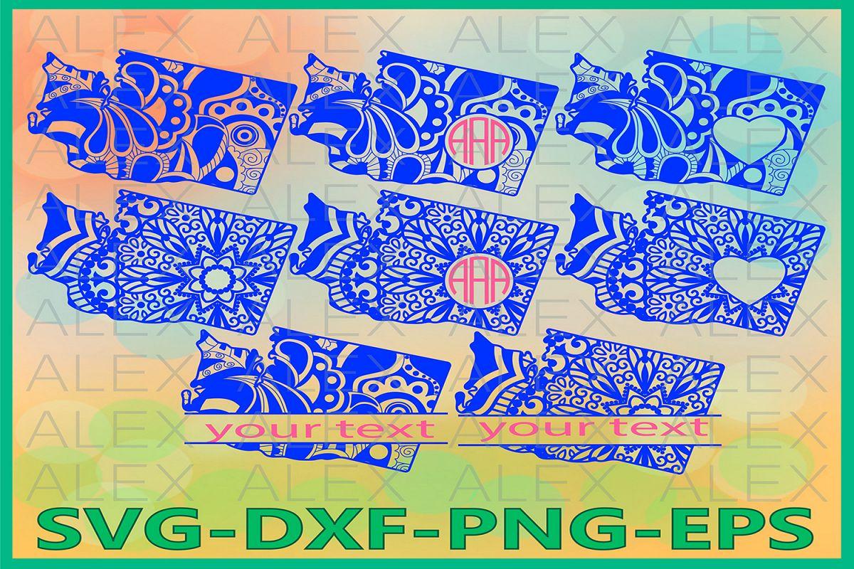 Washington State SVG, Washington Mandala SVG, Washington Svg example image 1