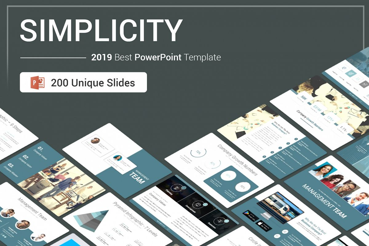 Simplicity PowerPoint Template example image 1