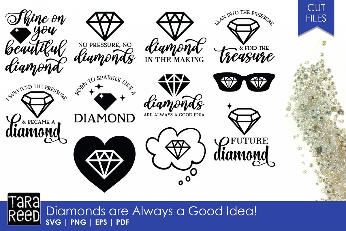 Diamonds are Always a Good Idea - Diamond SVG and Cut Files example image 1