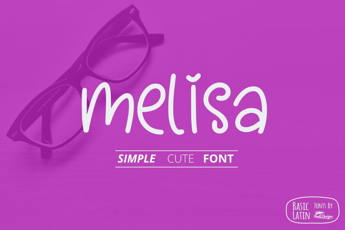 Melisa Fun Font example image 1