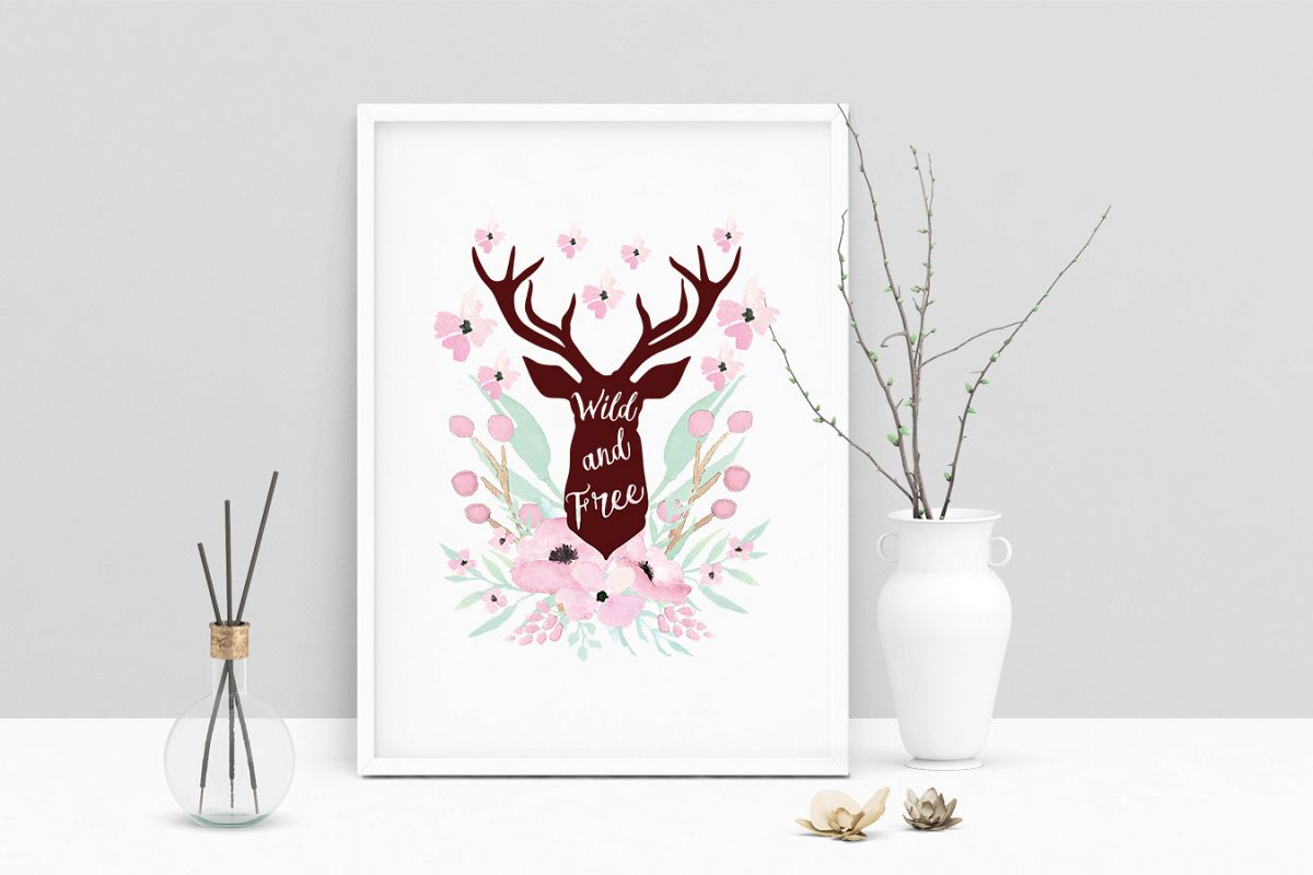 photograph regarding Printable Deer Head titled Printable Artwork Boasting Wild And Absolutely free Deer Brain, Wall Artwork, .PDF
