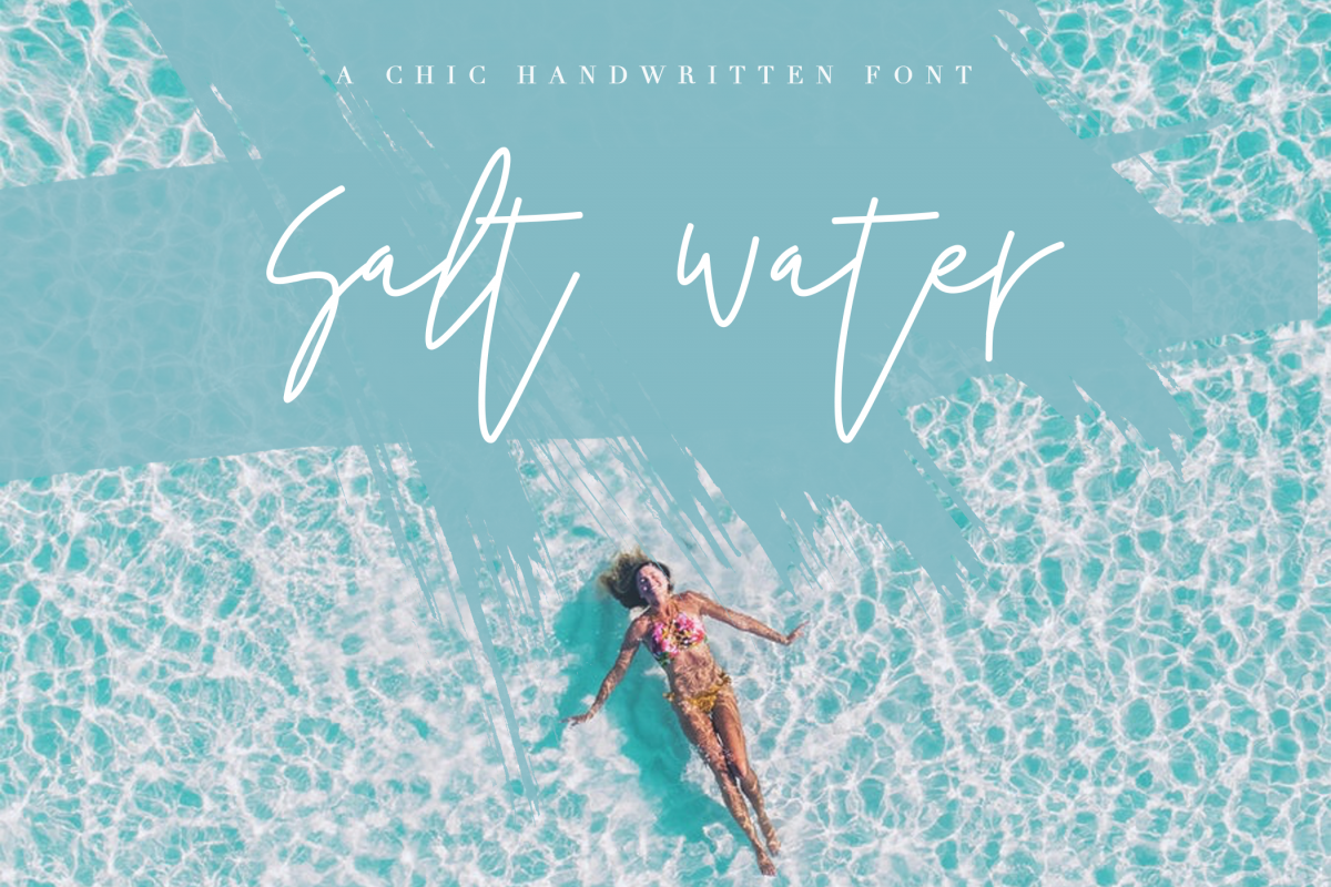 Salt Water - Handwritten Chic Font example image 1