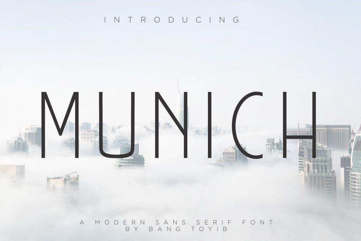 MUNICH - MODERN SANS SERIF example image 1