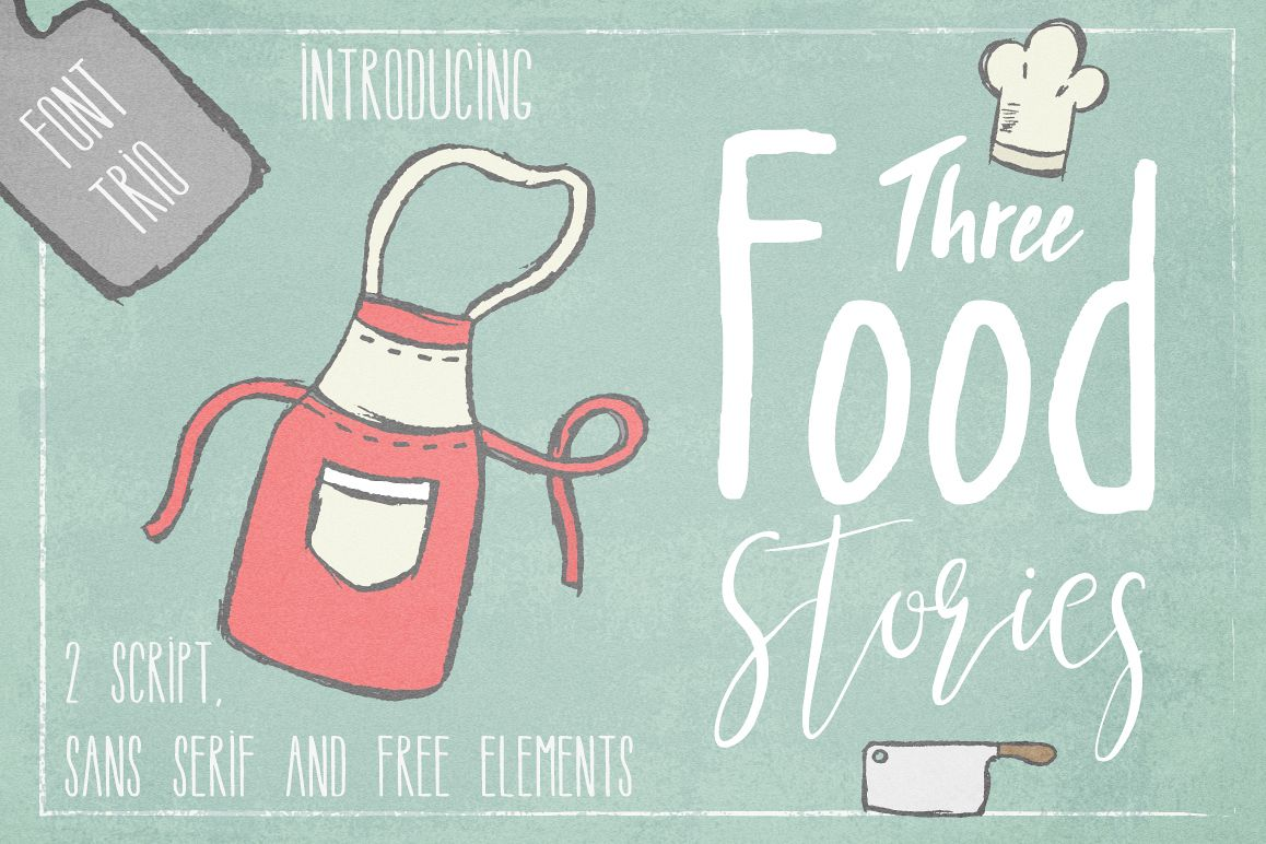 Three Food Stories [Font Trio] example image 1