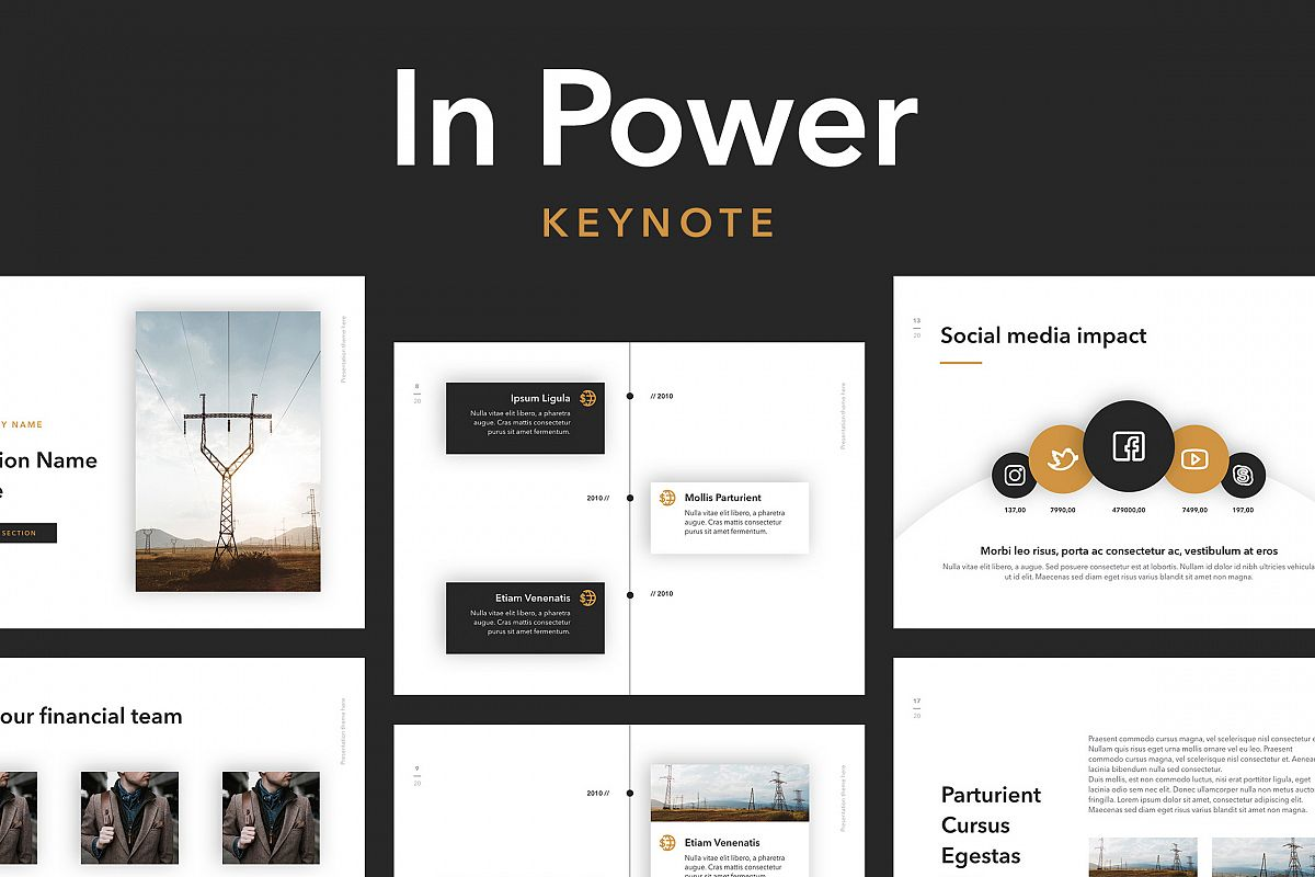 In Power Keynote Template example image 1