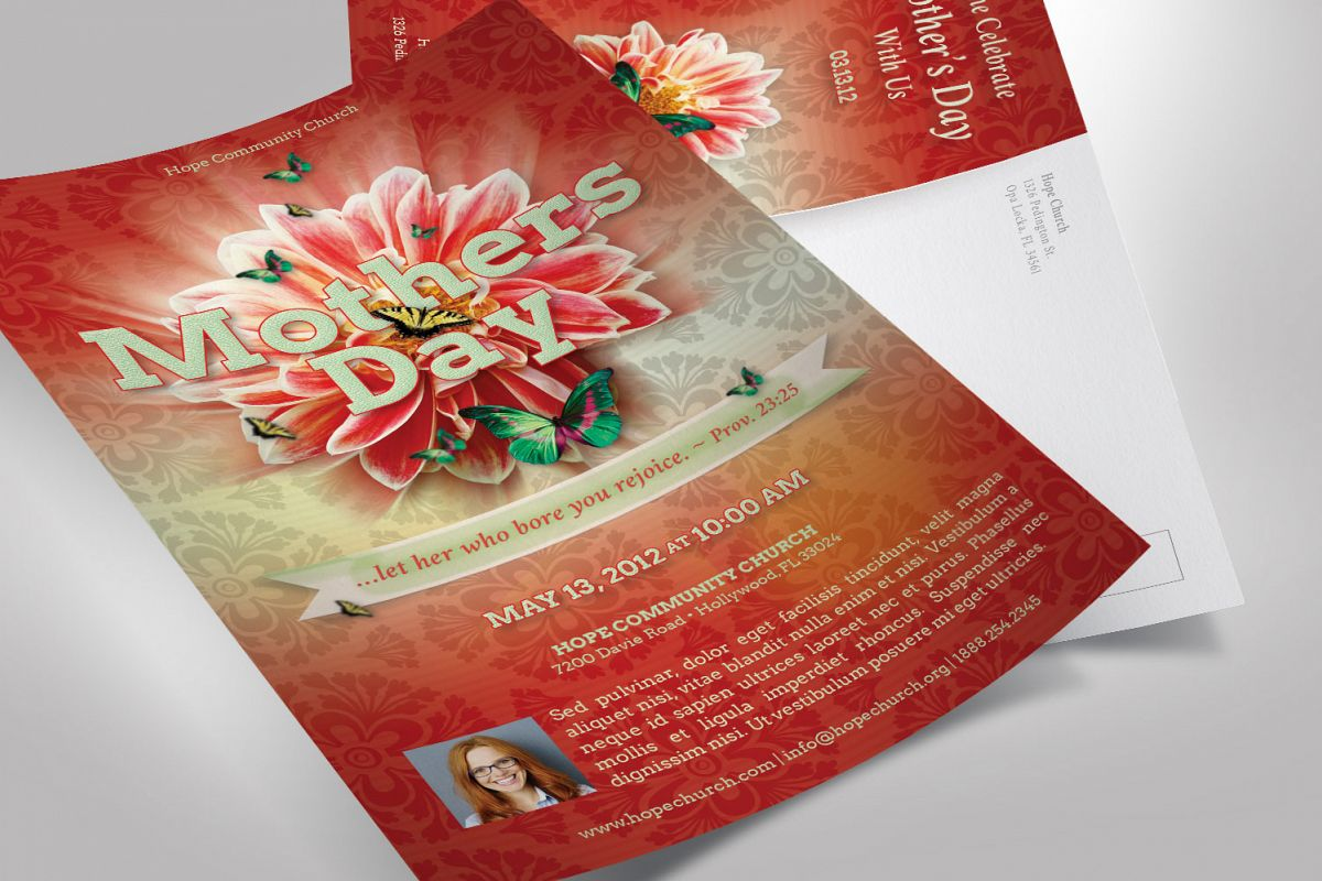 Mothers Day Flyer Photoshop Template example image 1