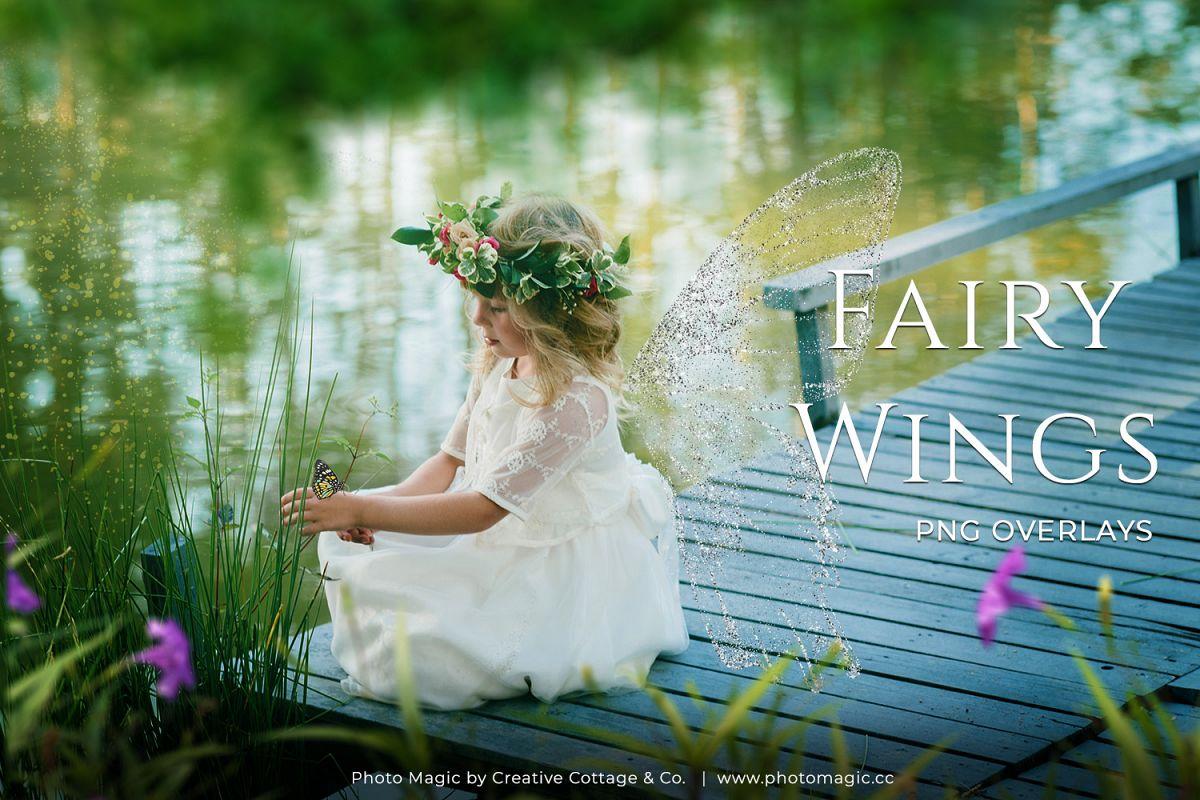 Fantasy Fairy Wing Photo Overlays example image 1