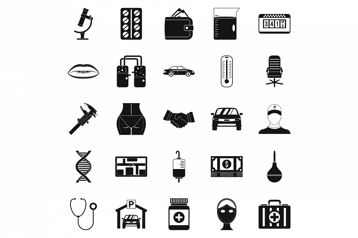 Working year icons set, simple style example image 1