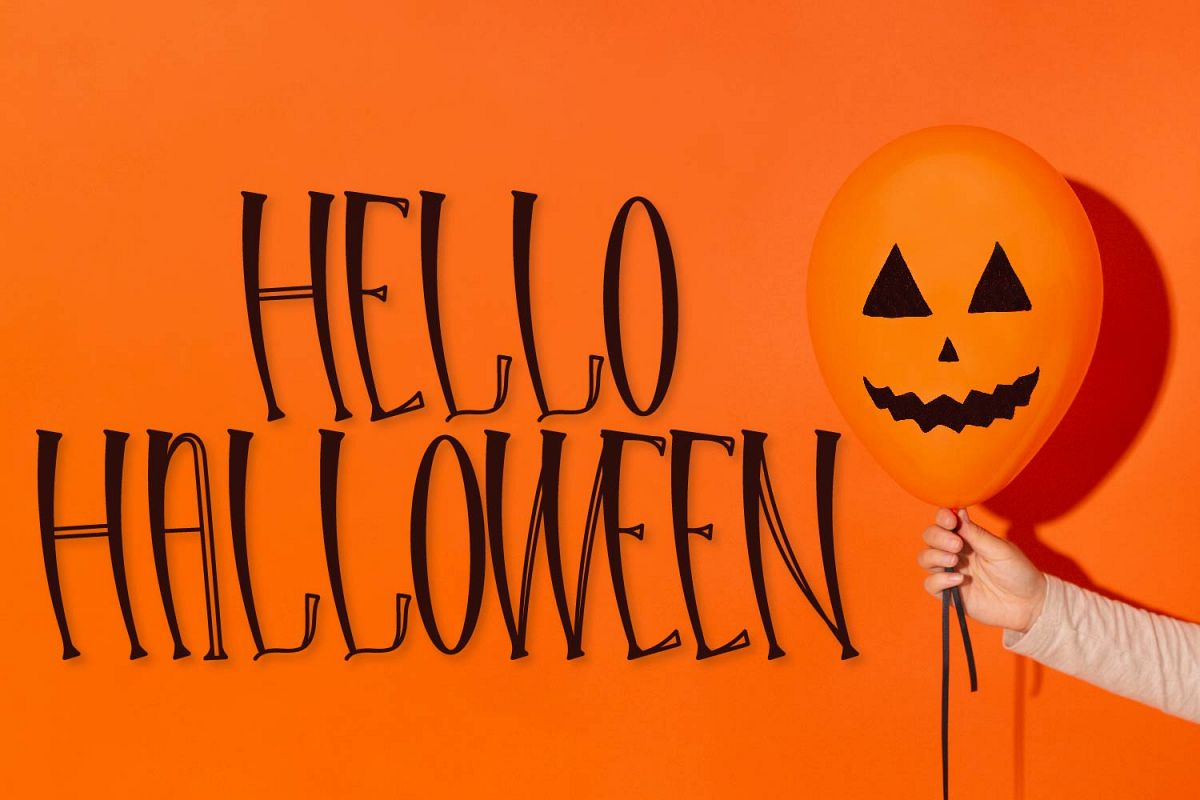 Hello Halloween - A Spooky Font example image 1