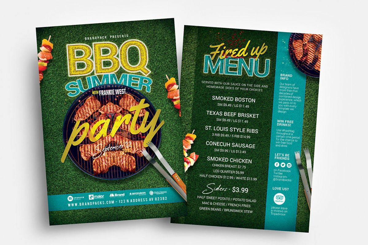 BBQ Cookout Flyer Template example image 1