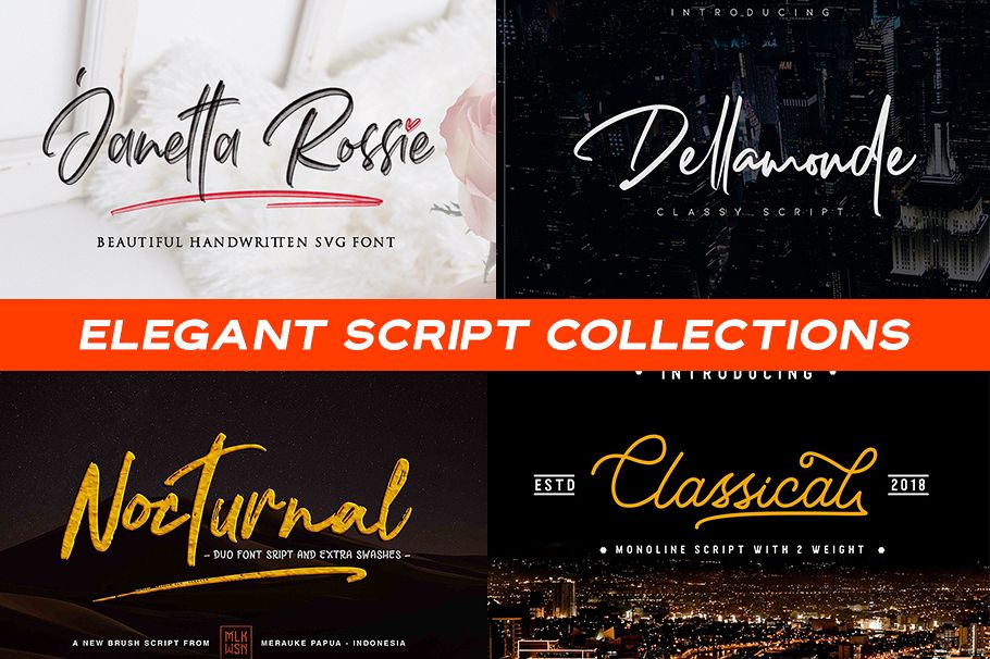 Elegant Script Collections example image 1