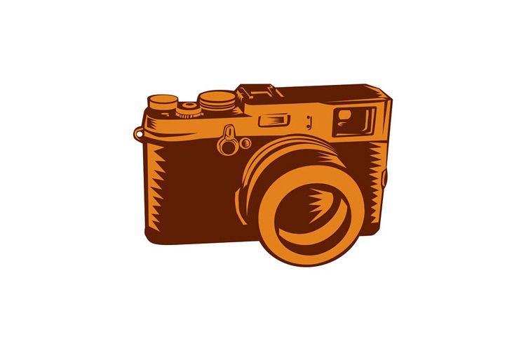 Camera 35mm Vintage Woodcut example image 1
