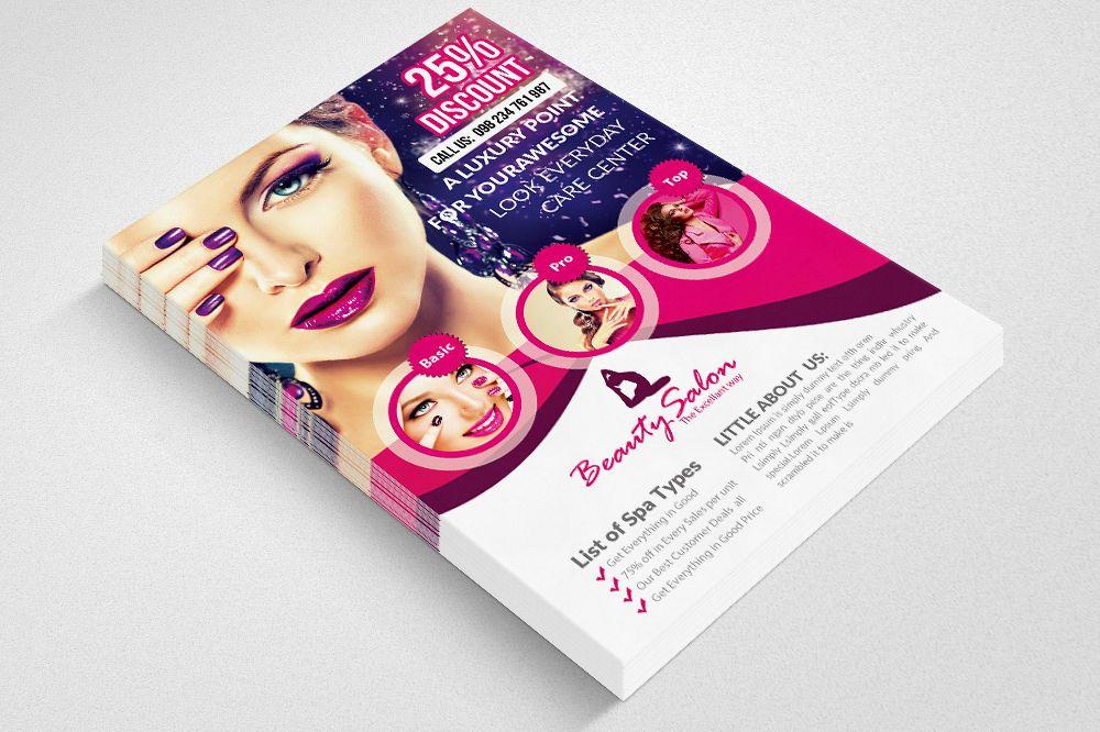 Beauty Salon Flyer Template 02 Example Image