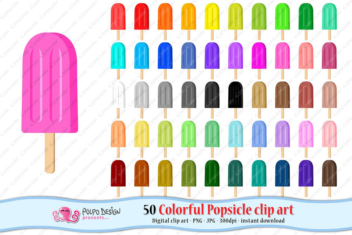 Colorful Popsicle clip art example image 1