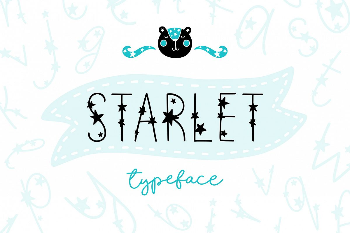 Starlet Typeface with Clipart! example image 1