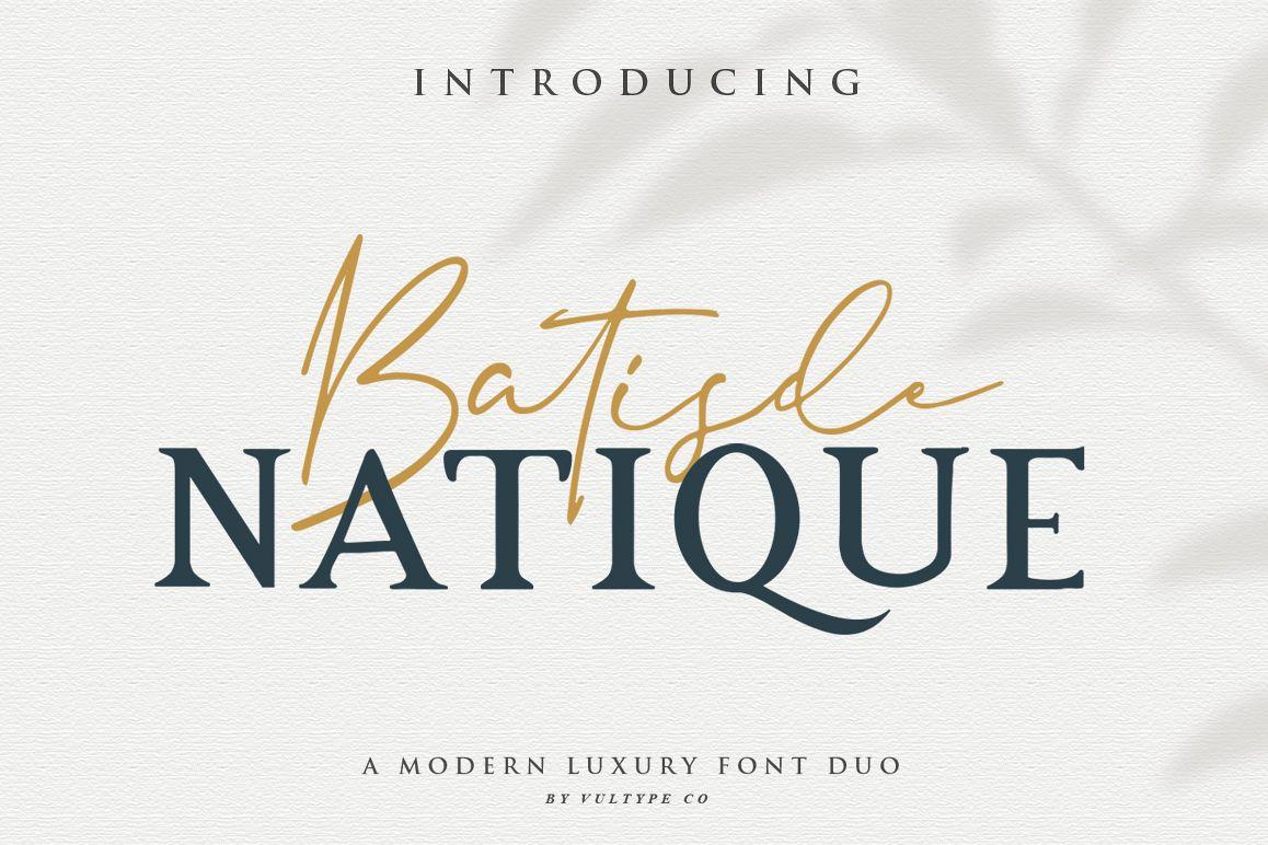 Batisde Font Duo example image 1