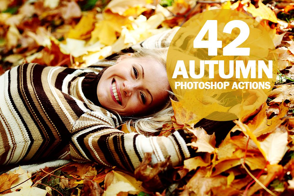 42 Autumn Photoshop Actions Collection (Action for photoshop CS5,CS6,CC) example image 1