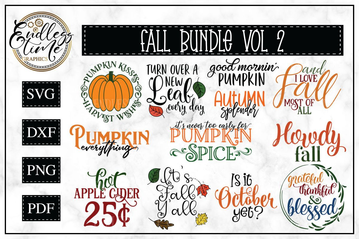 Fall SVG Bundle Volume 2 -- UPDATE 3 New Designs Added example image 1