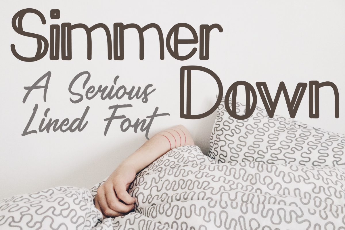 Simmer Down Lined Sans Serif Font example image 1