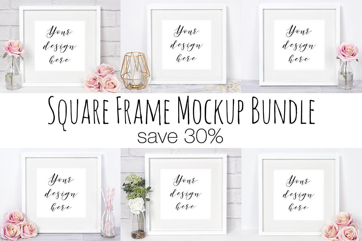 Square Frame Mockup Photography Bundle example image 1