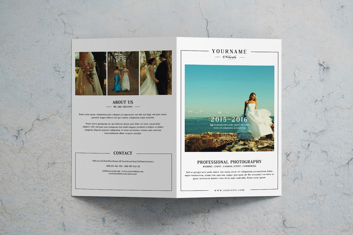 Wedding Photography Brochure Ideas: Wedding Photography Brochure Template