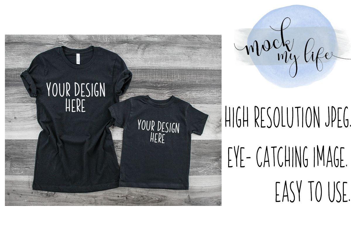MockUp Bella Canvas Shirt / Shirt Set Mockup example image 1