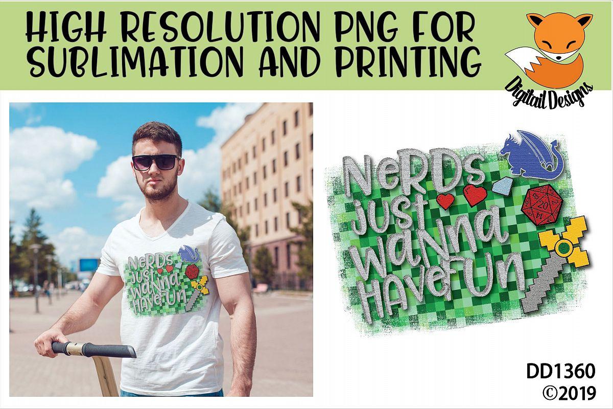 Nerdy Gamer Sublimation Printable example image 1