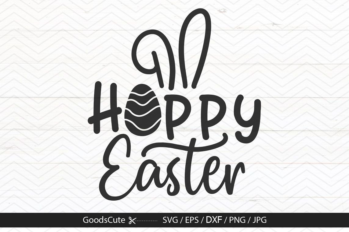 Hoppy Easter - SVG DXF JPG PNG EPS example image 1