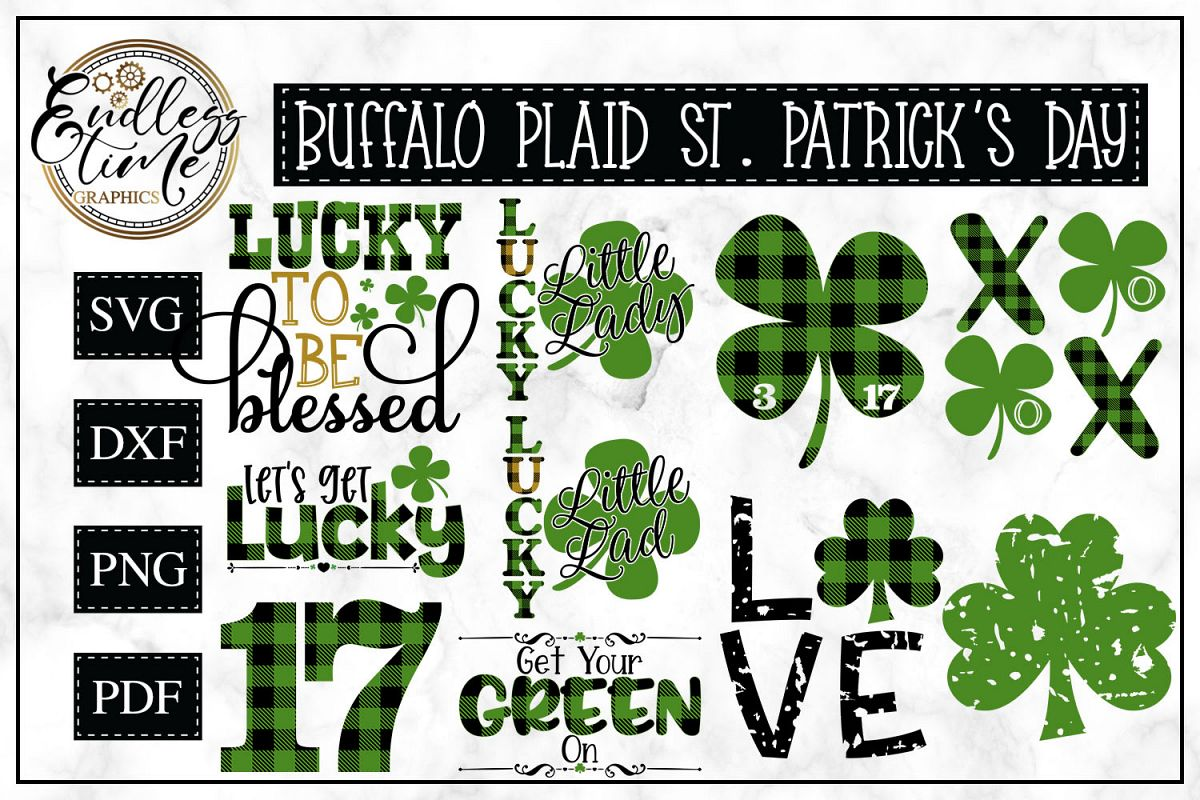 Buffalo Plaid St Patrick's Day Bundle - A Lucky Little Set example image 1