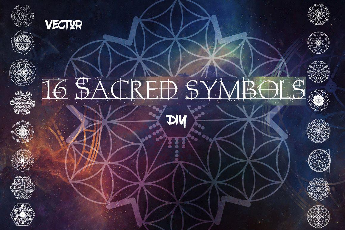 16 Sacred symbols  example image 1
