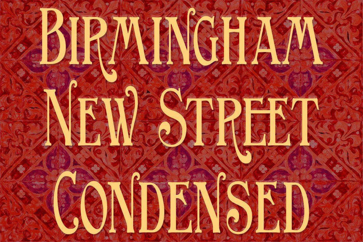 Birmingham New Street Condensed example image 1