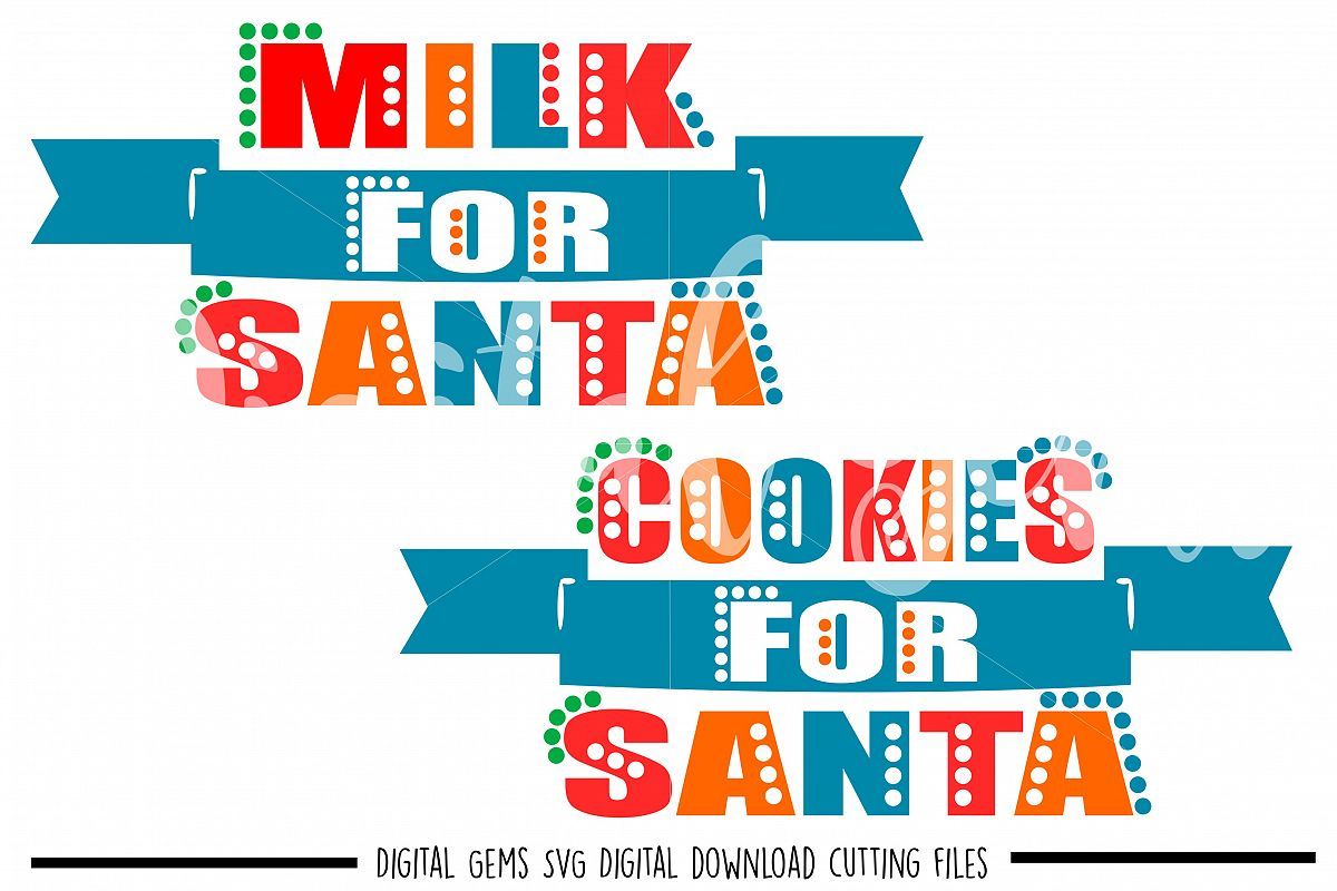 Cookies and Milk for Santa SVG / DXF / EPS / PNG files example image 1