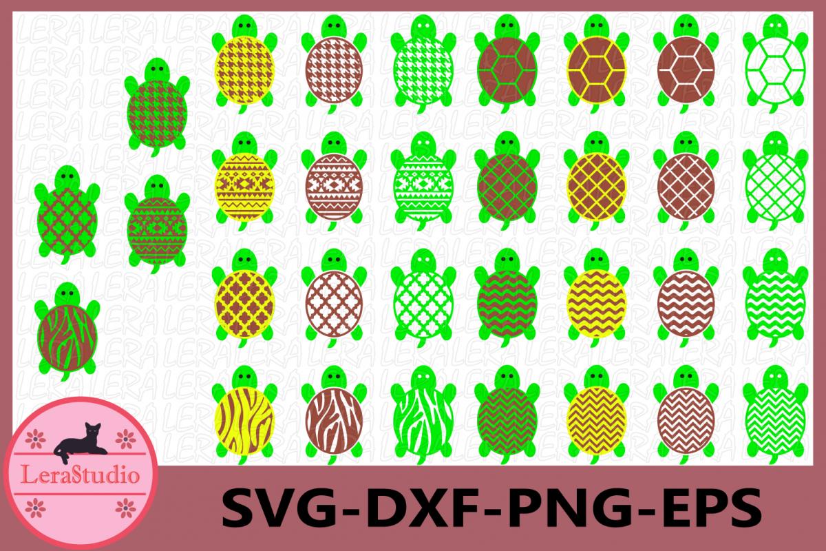 Turtle SVG, Turtle SVG Cut File, Beach Turtle Pattern svg example image 1