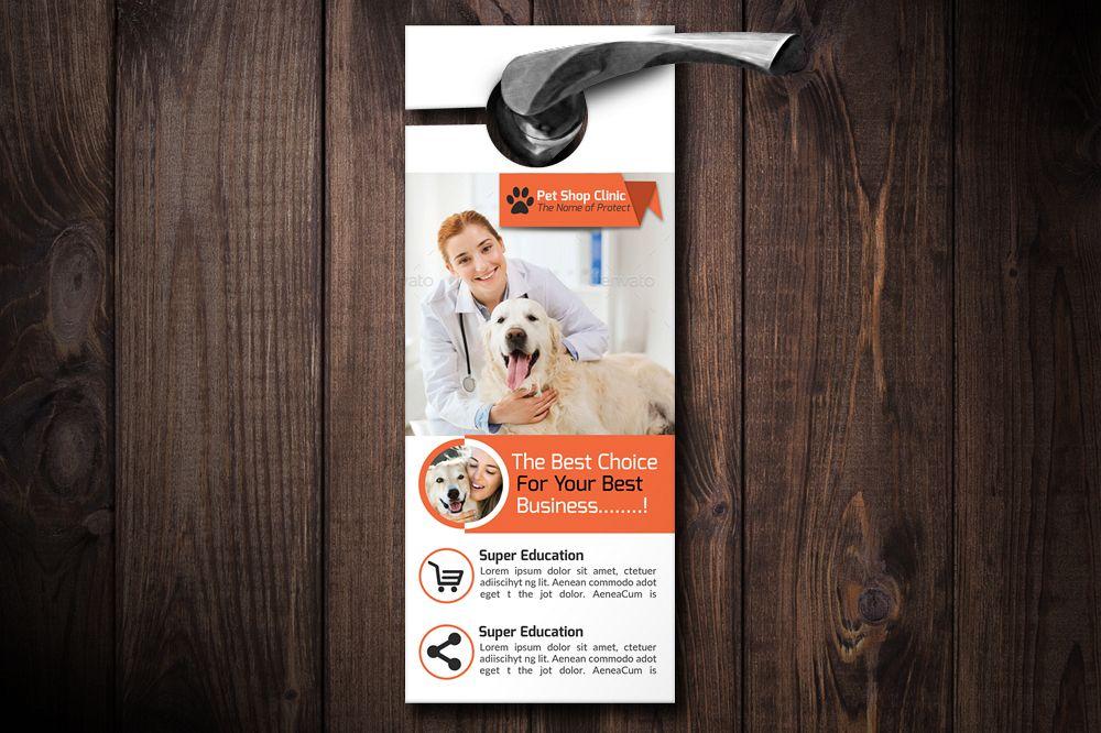 Pet Clinic Door Hangers example image 1