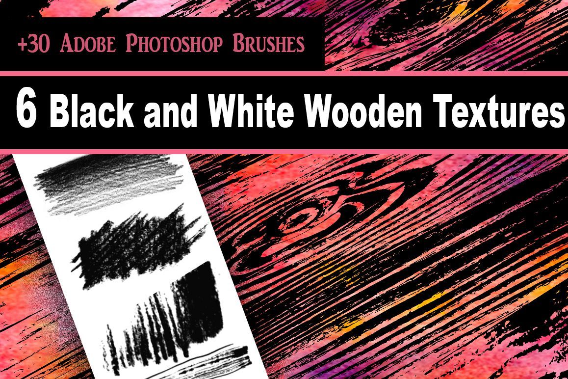 Wooden Textures Set example image 1
