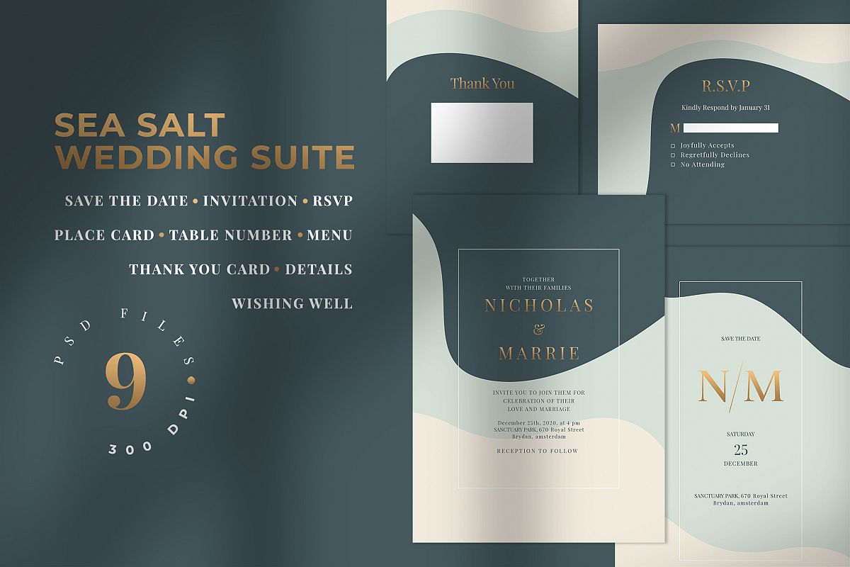 SEA SALT - Wedding Invitation Suite example image 1