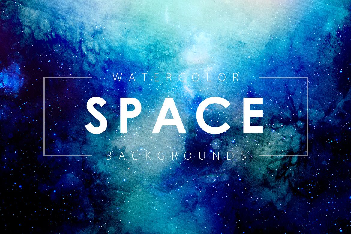 Space Watercolor Backgrounds example image 1