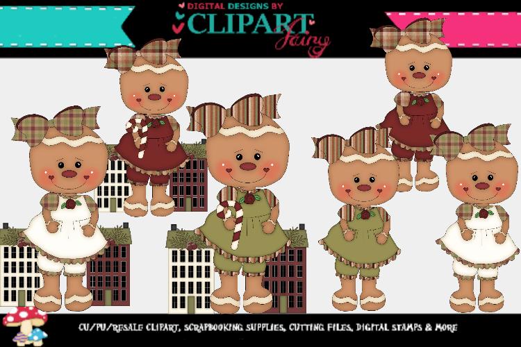 Christmas Gingy Girls 5 example image 1