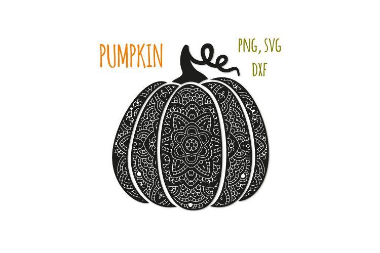 Bohemian pumpkin svg. Fancy pumpkin example image 1