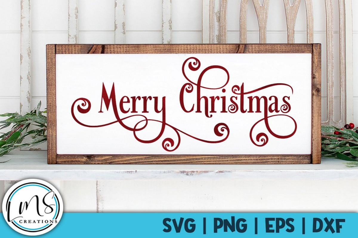 Merry Christmas SVG, PNG, EPS, DXF example image 1