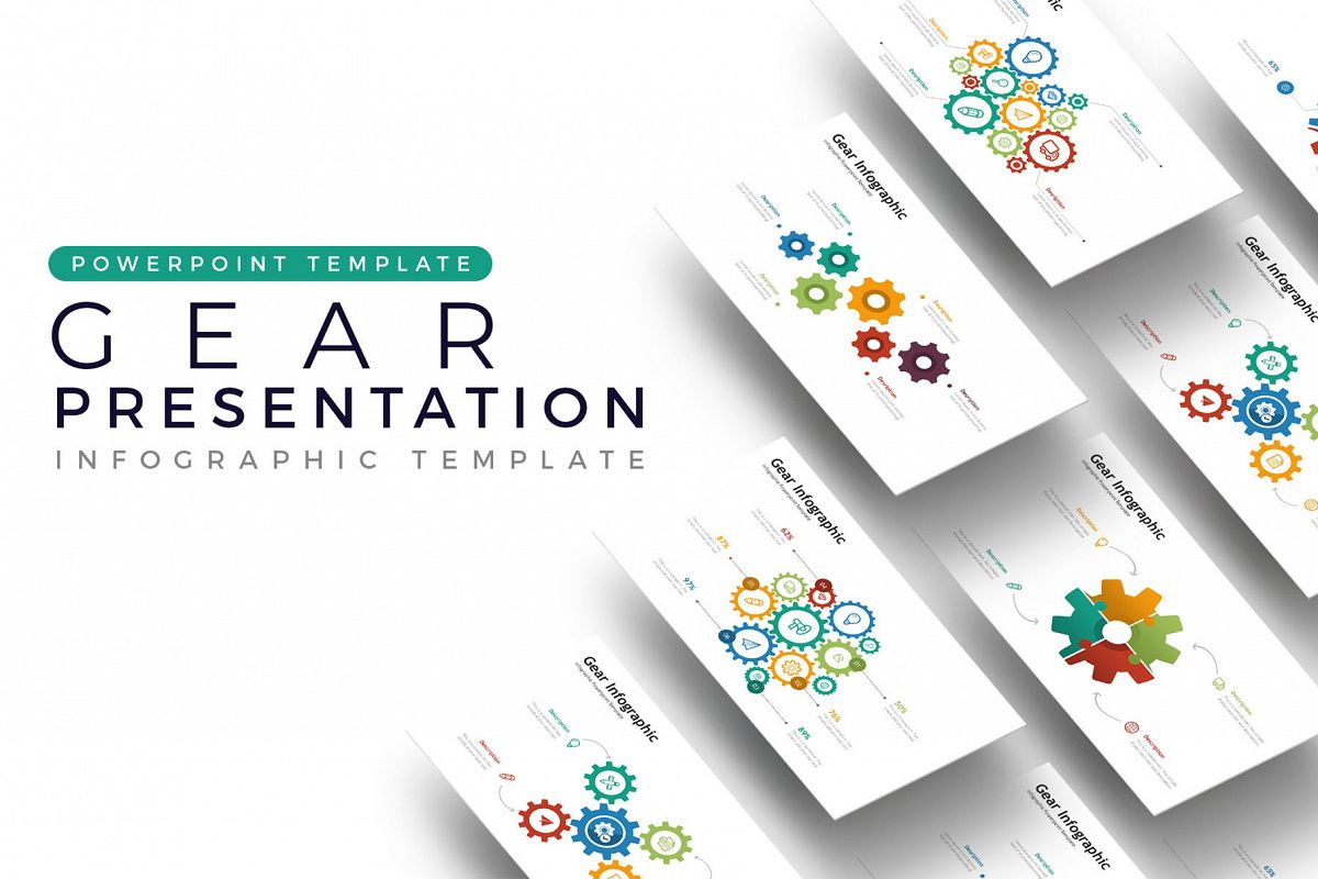 Gear Presentation - Infographic Template example image 1