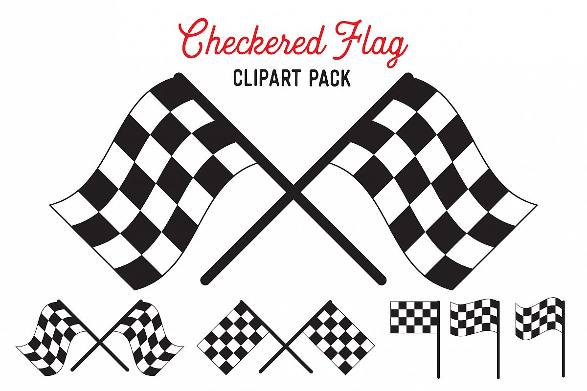 Checkered Flag SVG Vector Design Bundle - Vector Cut Files